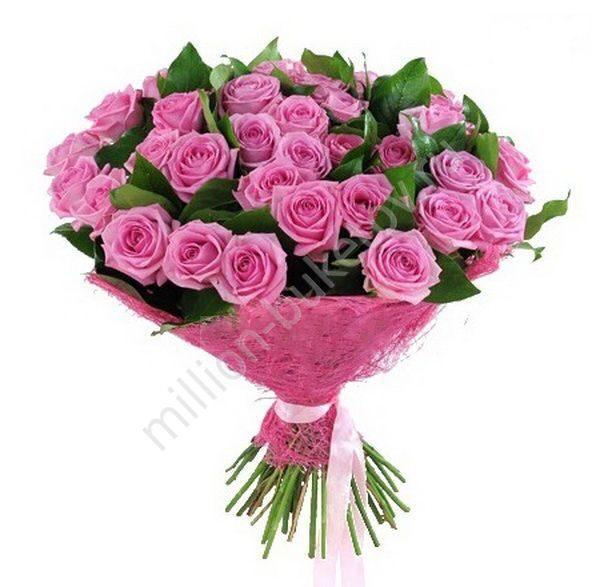 Фото букет розовых роз
