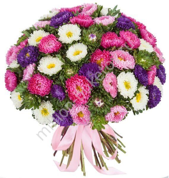 букет из роз и астр фото