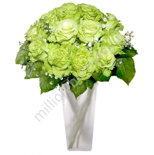 Купить зеленые розы в москве житомир цветы с доставкой