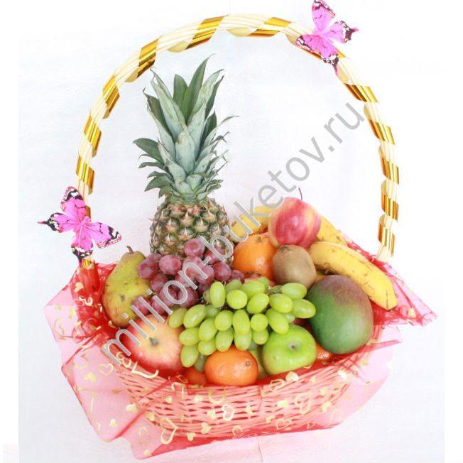 Оформление корзин с фруктами своими руками