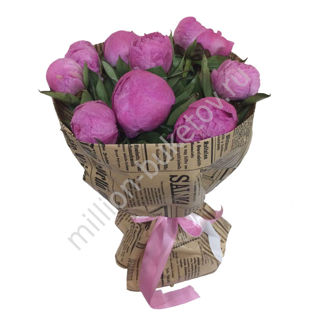 Цветы в крафт-бумаге