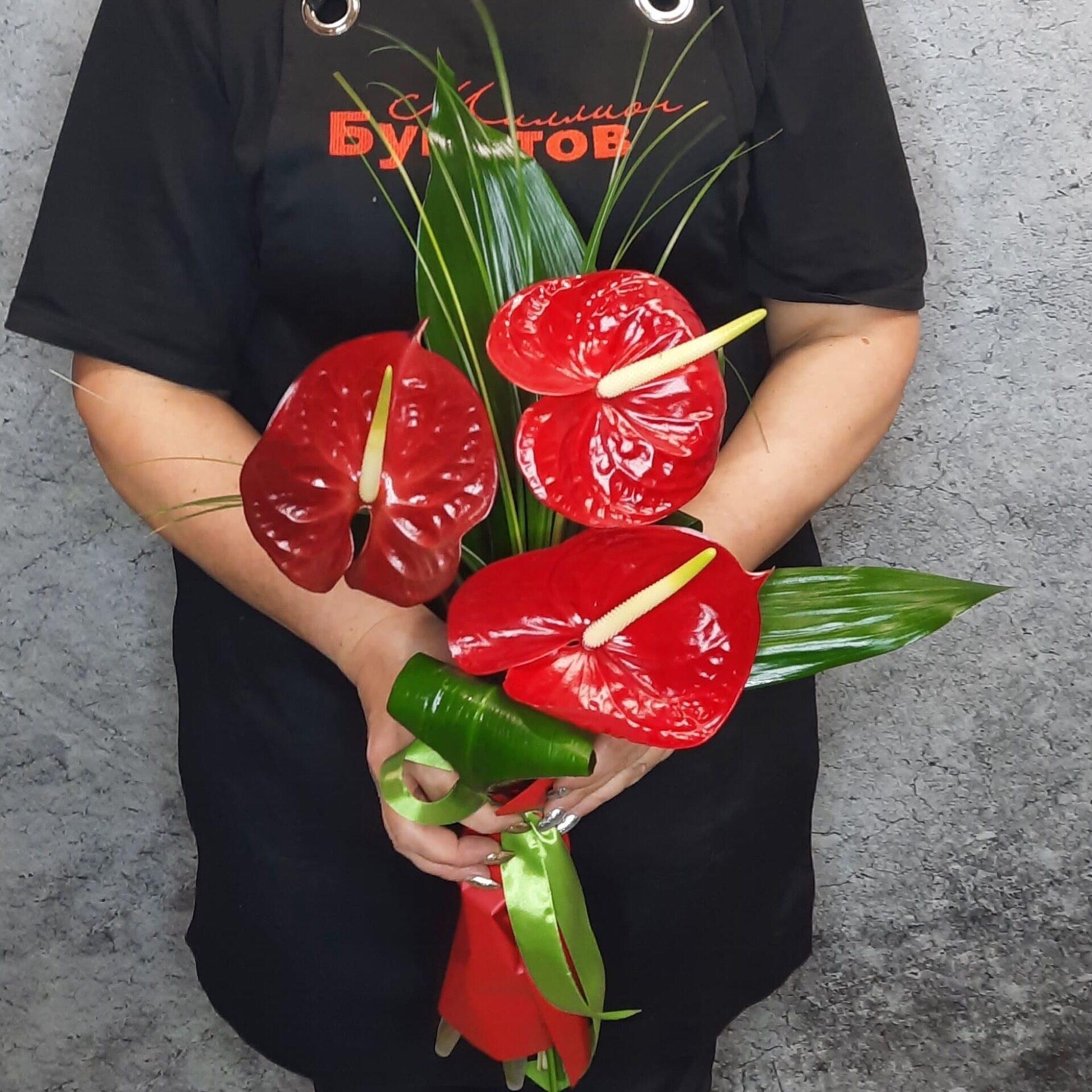 Букеты для невест из антуриума букеты красных