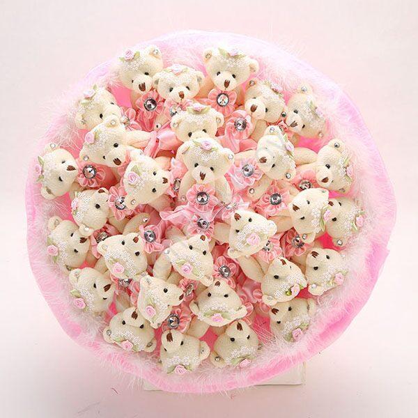Нежно розовые свадебные букеты