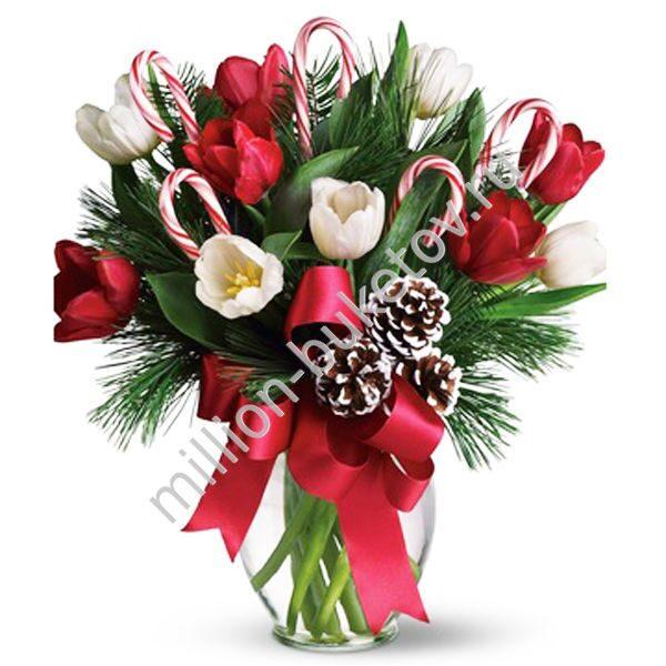 Новогодние цветы купить москва — pic 7